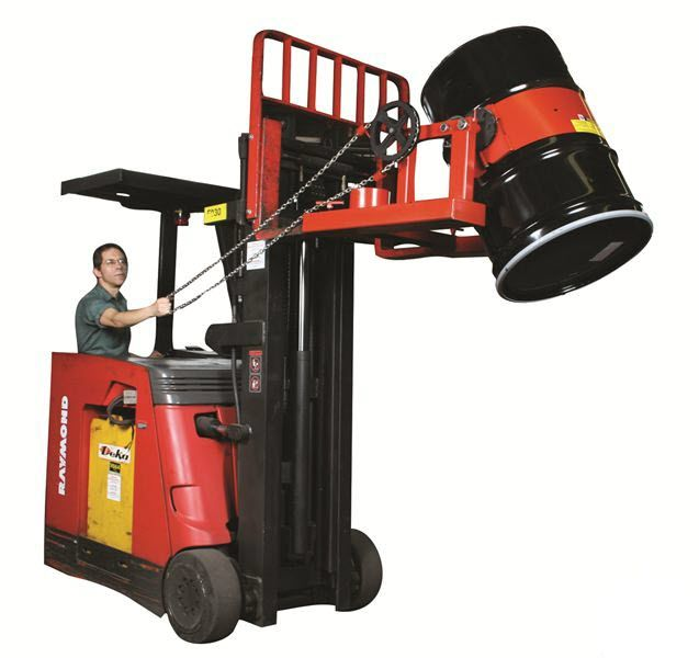 Fork Truck Drum Dispensers Poly Drum Lifters On Wesco