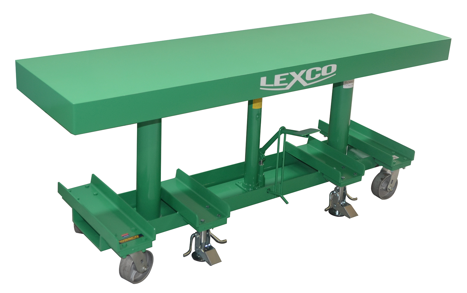 Lexco 174 Long Deck Hydraulic Foot Operated Lift Table On