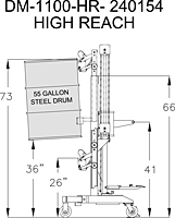 Ergonomic Drum Handler High Reach Model (240154)