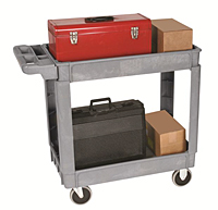 Deluxe Plastic Service Cart - Use