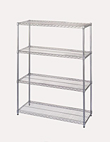 Chrome-Plated Wire Shelving - Starter Units