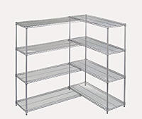 Chrome-Plated Wire Shelving - Add-On Kits