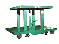 2,000 lb.Capacity Foot Operated & Electric Hydraulic Lift Table