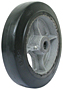 HB Cast Iron Center Moldon Rubber Wheel