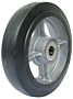 BT Cast Iron Center Moldon Rubber Wheel