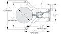 Ergonomic Drum Handler Standard Model (240150 & 240154) - Schematic Diagram